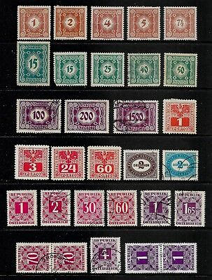 AUSTRIA 1921-1949 Postage Due stamps, used & mint