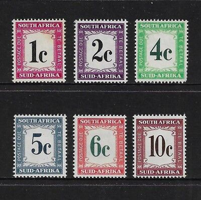 SOUTH AFRICA 1961 Postage Due, mint set of 6, MNH MUH