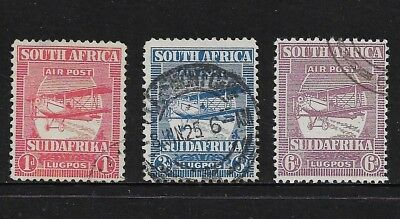 SOUTH AFRICA 1925 Air Mail, 3 from 4, used