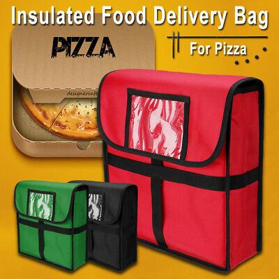 "13"" Thermal/Cold Insulated Pizza Food Delivery Bag Restaurant Moisture Free Box"