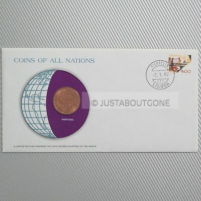 Portugal 1979 1 Escudo Fdc ─ Coins Of All Nations Uncirculated Stamp Cover Unc