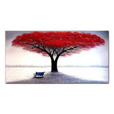 LMOP80 large 100% hand-painted MODERN red tree OIL PAINTING on CANVAS wall ART