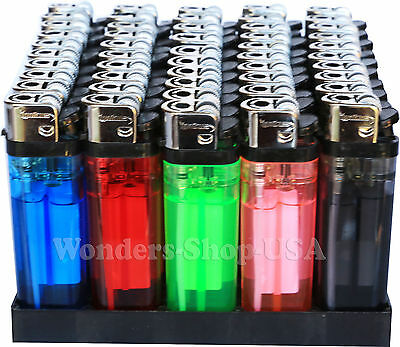 Wholesale Pack Lot 100 Cigarette Lighter Disposable Lighters Classic Full Size