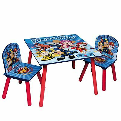 Paw Patrol Wooden Table & Chairs Indoor Childrens Kids Playroom Furniture Set