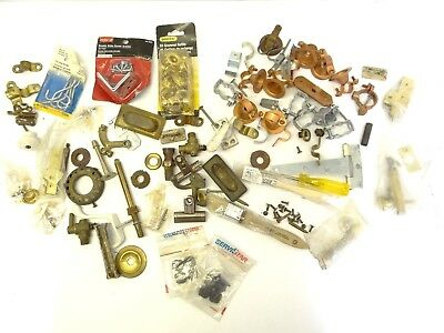 Mixed Lot Junk Drawer Clamps Hardware Knobs Bolts Corner Brackets Braces Parts