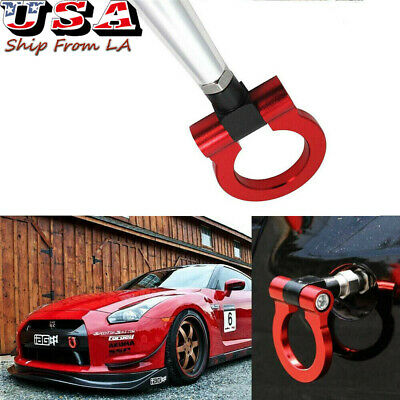 SPORTS RED TRACK Racing Style Aluminum Tow Hook Ring For