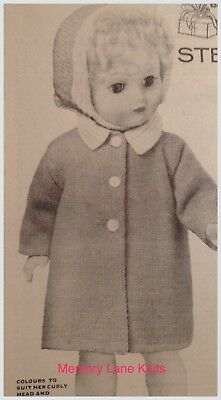 "Coat Leggings Hat Boy Doll Clothes Vintage Knitting PATTERN 16.5/""        B23"