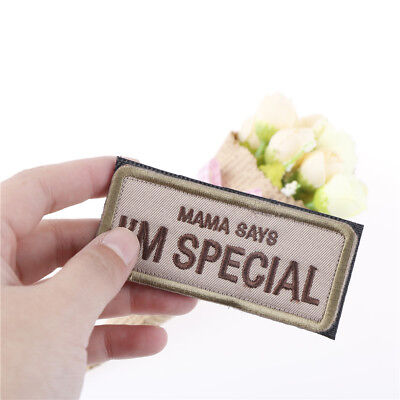 mama says i'm special military patch  3d badge fabric armband badges sticker WKH