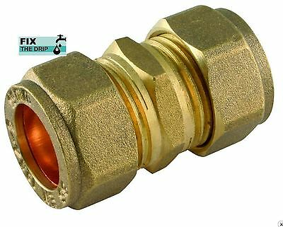 FtD 22mm BRASS Compression Coupling fitting