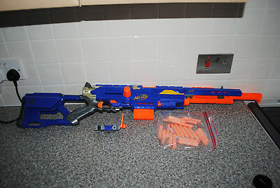 NERF Long Strike CS-6 Rifle Gun Blaster with Magazine and Darts