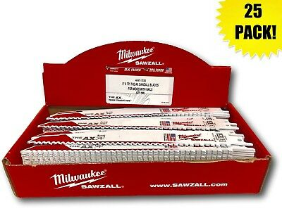 (25 PK) Milwaukee 48-01-7026 9 in. 5 TPI The AX Sawzall Blade 48-00-8026