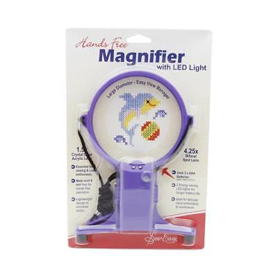 NEW Sew Easy Magnifier Hands Free Craft with Light By Spotlight