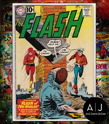 Flash #123 (W DC B) GD! HIGH RES SCANS! DETACHED COVER!
