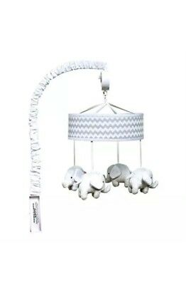Trend Lab Musical Mobile Gray Chevron Elephants