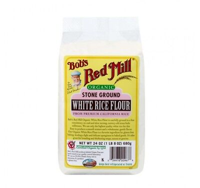 Bob's Red Mill White Rice Flour, Organic, 24-oz Packages (Pack of 4)