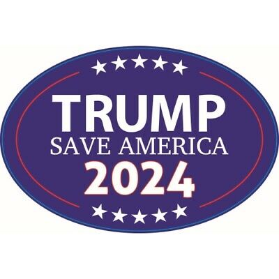 Trump 2020 Keep America Great Magnet 4x6 inch Oval Blue Decal for Car or Fridge