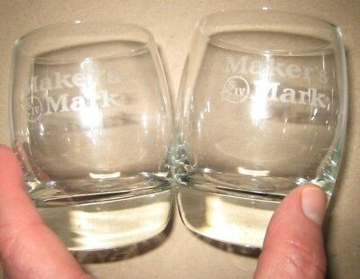 Maker's Mark Rock Glasses Set of 2 New