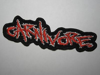 CARNIVORE logo embroidered NEW patch speed thrash crossover metal