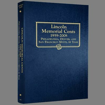 Whitman US Lincoln Memorial Cent Coin Album 1959 - 2007 P-D-S #9141