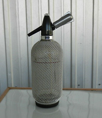 SODA SYPHON VINTAGE CHROME MESH WITH BULB HOLDER Merkuria Kovokas Czech