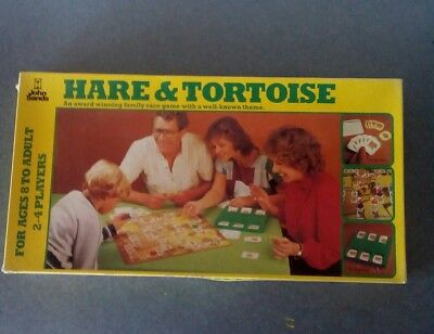 HARE & TORTOISE BOARD GAME by JOHN SANDS - 1981 - COMPLETE - VGC~Rare FREE POST