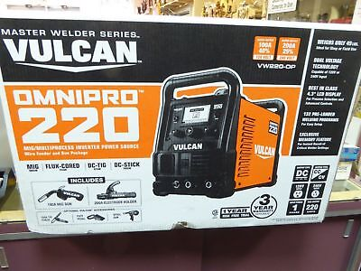 Vulcan VW220-OP OmniPro 220 TIG MIG STICK Multiprocess Welder 63621 Brand New