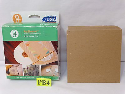 Guided Products Re-Sleeve Recycled Cardboard CD Sleeve, 25 pack New Chipboard