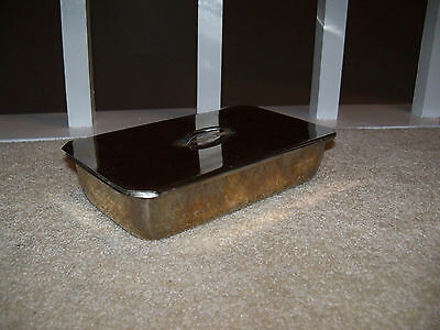 VOLLRATH Medical STAINLESS STEEL Instrument Tray with Lid Dental Doctor 9x5x2