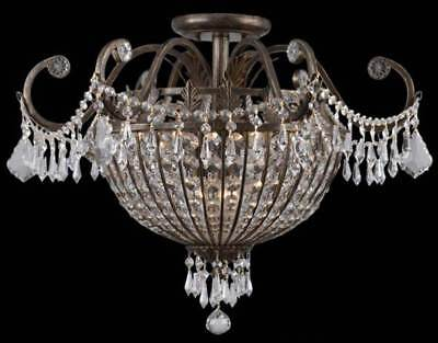 9 Lights Wrought Iron Crystal Candle Chandelier [ID 55757]