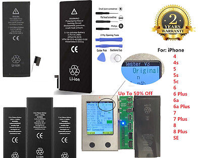 OEM Replacement Internal Battery for iPhone 4 4s 5 5c 5s 6 6s 7 Plus + Tools Kit