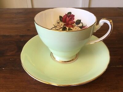 Vintage Hammersley and Co Green Saucer and Plate