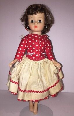 Vintage Mme Madame Alexander Brunette Flip Cissette Doll in Square Dance Dress
