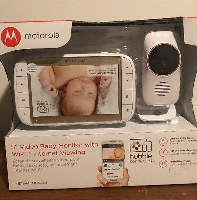 "Motorola 5"" Video Baby monitor With Wi-Fi Internet Viewing (MBP844CONNECT)-NEW!!"