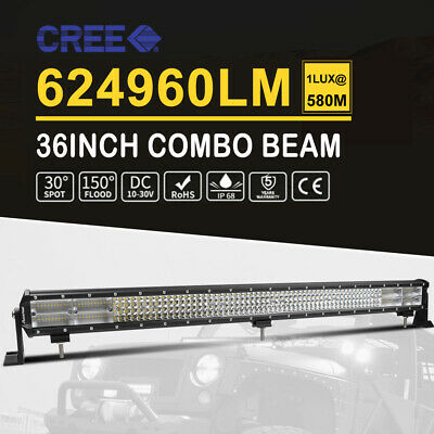 36inch 4032W CREE LED Light Bar Work COMBO Beam Truck ATV SUV UTE Car 12V 24V 35