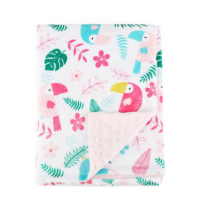 Boritar Nursery Baby Blankets Super Soft Minky With Double Layer Dotted Backing