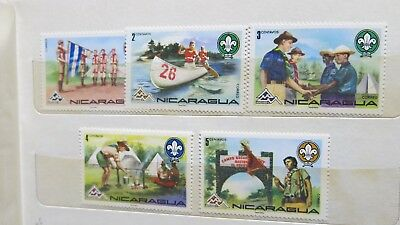 1975 Nicaragua Scouts Movement 5 Stamp Set  MUH