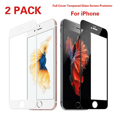 2X Full Coverage 3D Curved Tempered Glass Screen Protector Film fr iPhone 7 Plus