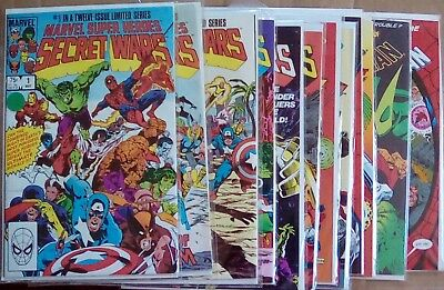 Secret Wars and more Lot of 12 Plus 2 Bonus Comics