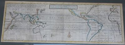 Kolorierte Kupferstichkarte : A view ye General & Coasting TRADE-WINDS : um 1739