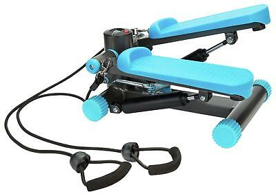 Mini Stepper Workout W/ Bungee Cords Exercise Fitness Legs Arms Toning Gym Home