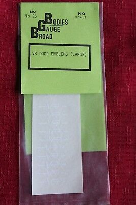 VR box car logos in white  MEDIUM size only 1 pack  #226 JUNE PRICE REDUCTION