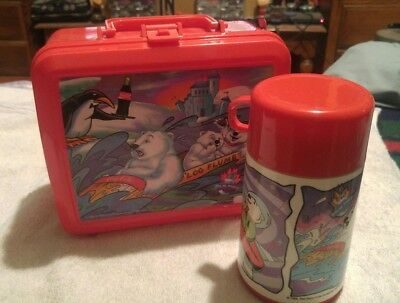 New 1996 Aladdin Coca-Cola polar bears world lunch box and thermos with tags