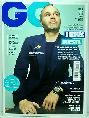 Revista Magazine Gq Spain June 2018 Nº 244 Cover Andres Iniesta