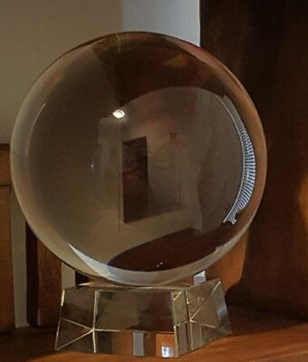 Massive Clear Lead Crystal Ball~ Stand,Spiritual, Collectible~15 kg,Scrying ball