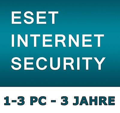 ESET Internet Security - Lizenz - 3 Jahre / 1-3 PC