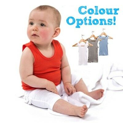 BubWear Coloured Baby Singlets