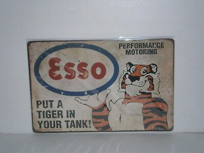 ETMS1 Esso Tiger Metal Sign 20 cm H X 30cm W New
