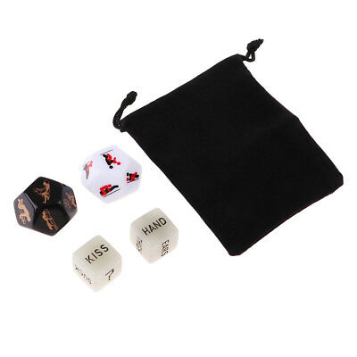 4x Sex Dice Game Erotic Love Dice Add Spice for Couples Adult Bachelor Party