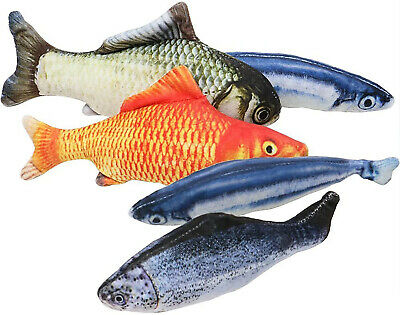 3 Pack Realistic Interactive Fish Cat Kicker Crazy Pet Toy Gift Catnip Toys