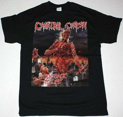 Cannibal Corpse Eaten Back To Life Deicide Grindcore Death New Black T-Shirt